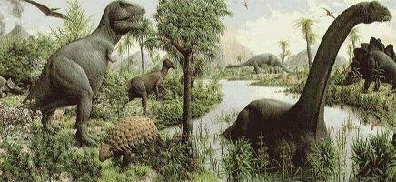 El hátitat de los Dinosaurios para niños