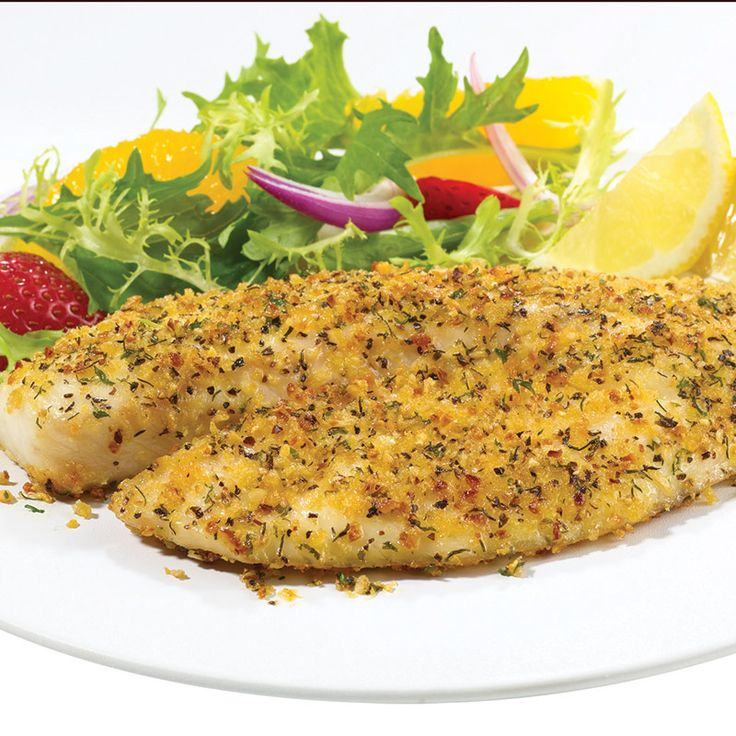 Your family can enjoy moist flavorful tilapia seasoned with all natural lemon, dill, pepper and other spices in just 15 minutes. Serve with a lightly dressed salad of mixed greens, oranges, strawberries and red onion.
