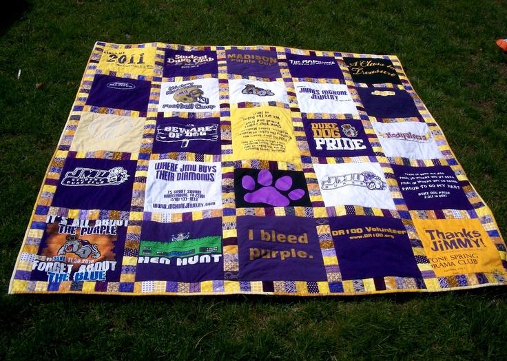 JMU t-shirt quilt! What a great idea!