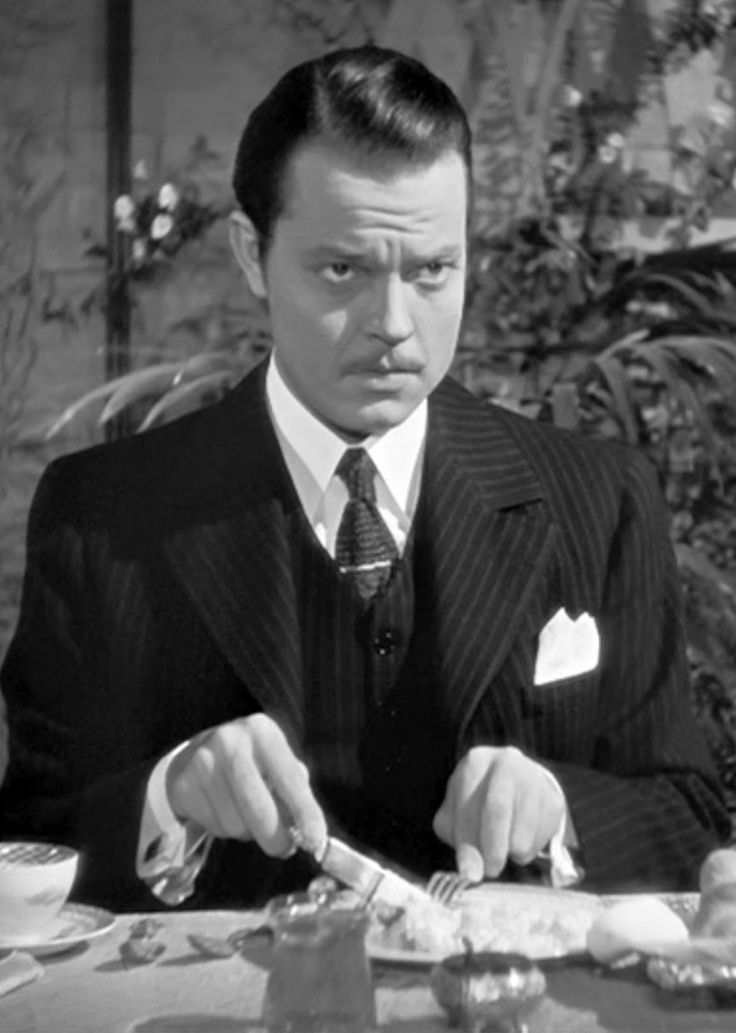 "Charles Foster Kane, played by Orson Welles in ""Citizen Kane""."