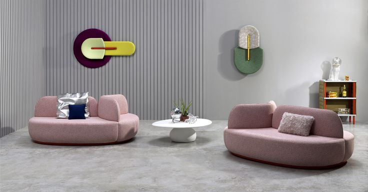 disrupting expansive spaces of emptiness such as lobbies, the sancal 'la isla' sofas by note design studio are landmarks of style, softness and shelter.