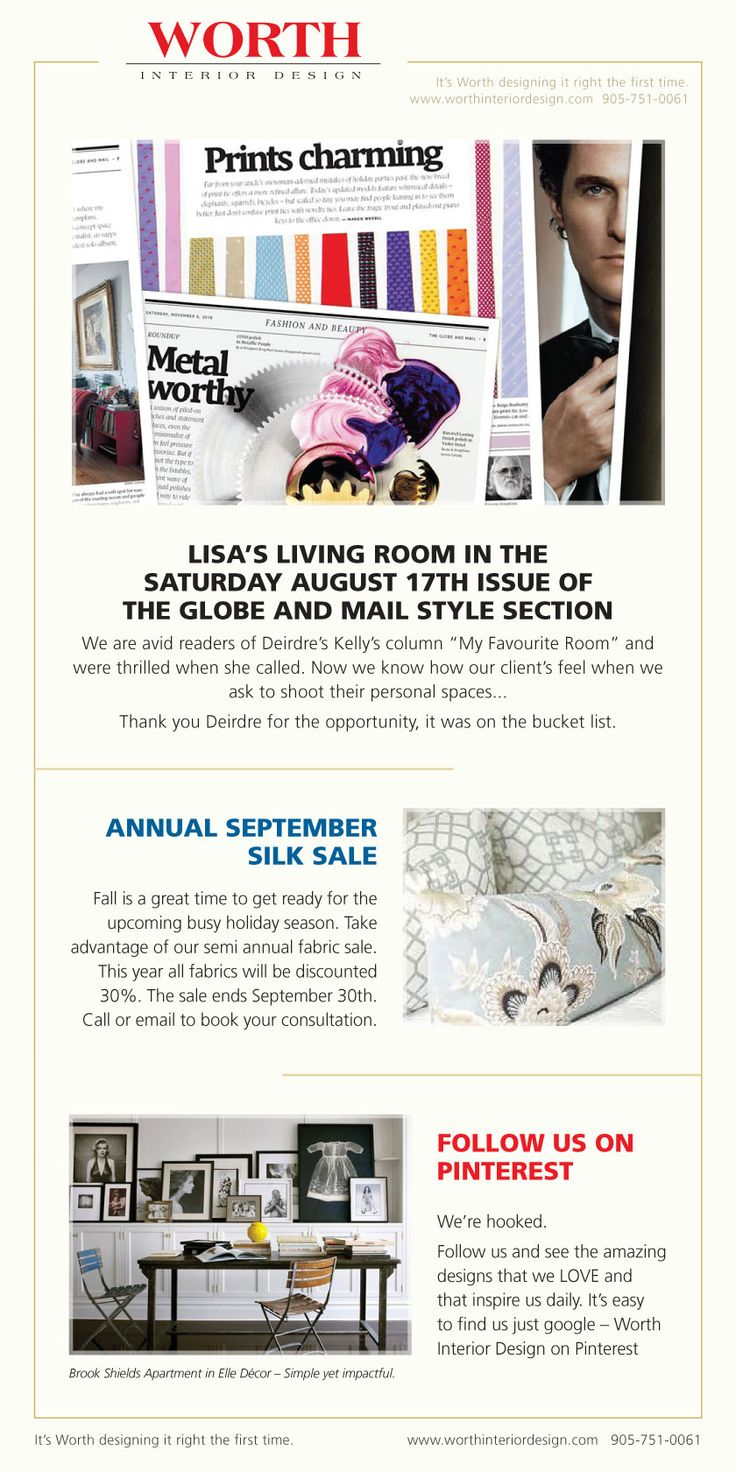 Lisa in the Globe and Mail style section !