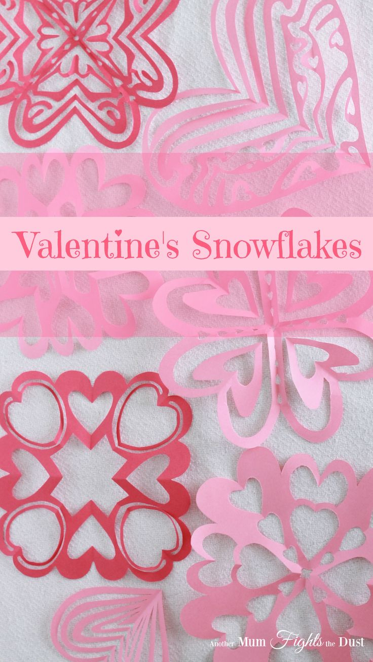 Valentine's Day Snowflakes Free Template