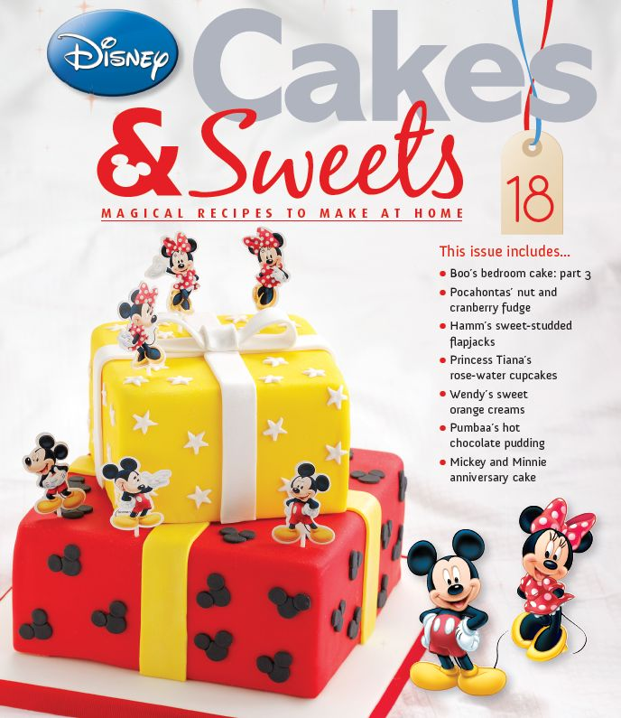 Mickey and Minnie anniversary cake for a very special occasion in issue 18 #disneycales