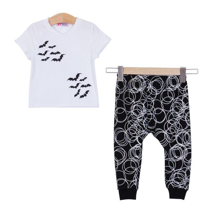 Baby Unisex Bats & Spirals Shirts & Pants