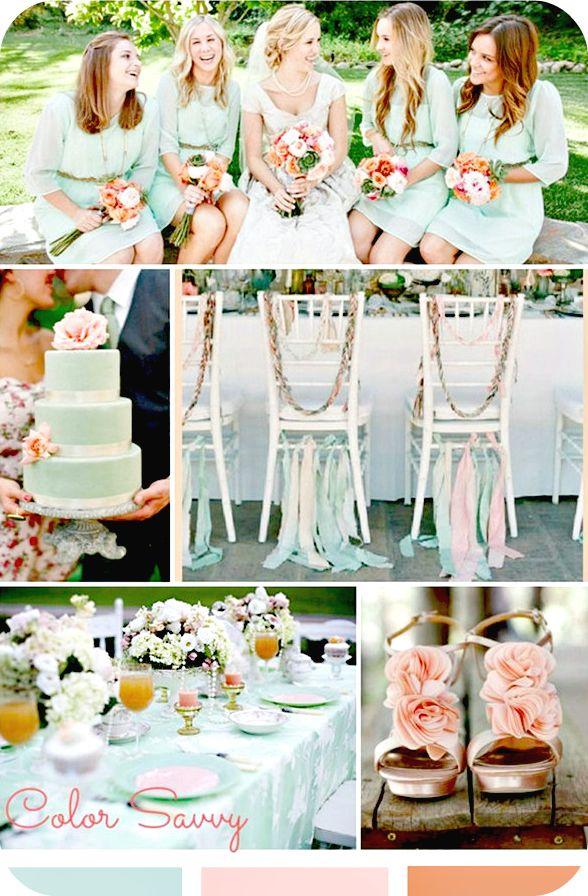 DUSTY TEAL WEDDING THEMES | ... teal weddin, matrimonio pesca e verde acqua, peach and dusty wedding