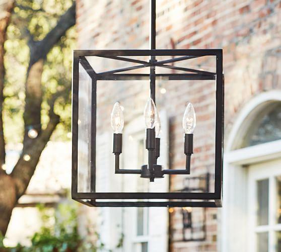 $349 Manor Contemporary Glass Pendant | Pottery Barn