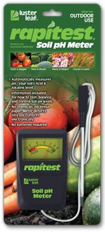 LUSTER LEAF 1840 RAPITEST SOIL PH METER CHECKS WHICH PLANTS