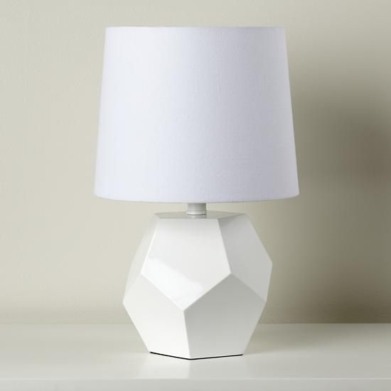 love our rock lamp in white with a white shade it s modern and adds. Black Bedroom Furniture Sets. Home Design Ideas