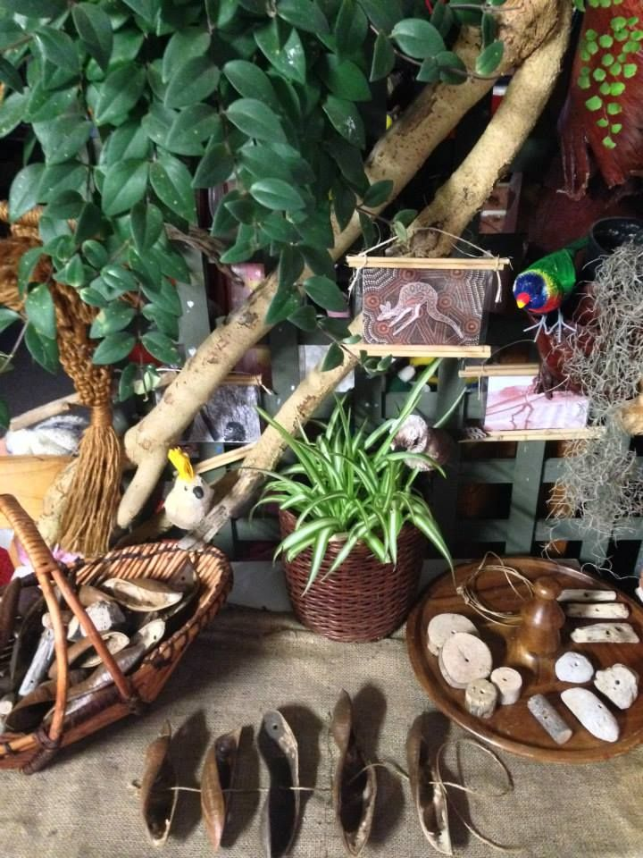 Fine motor play using natural materials at Puzzles Family Day Care ≈≈