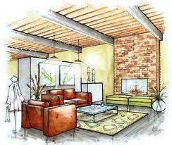 Interior Marker Rendering - Living Room