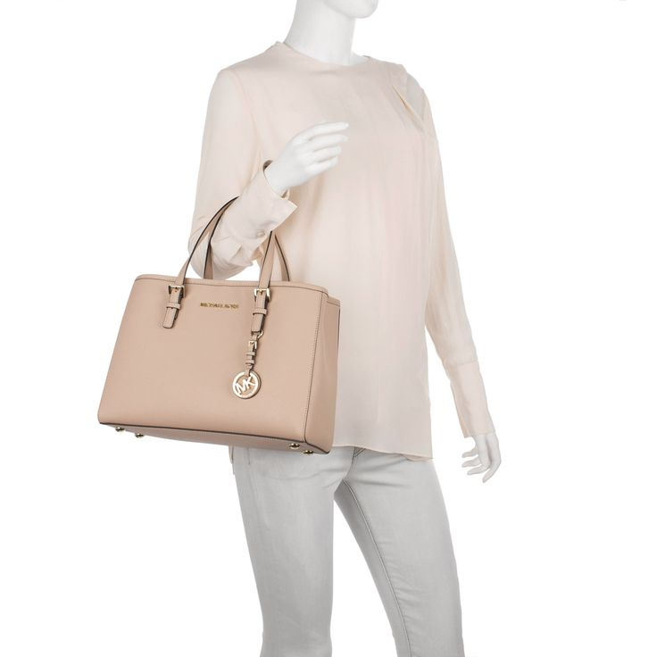 Michael Kors Jet Set Travel MD EW Tote Leather Oyster bei Fashionette