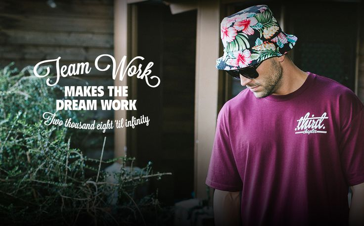 "Third Chapter Dusk Till Dawn Collection Featuring our ""Team Work"" T-Shirt"