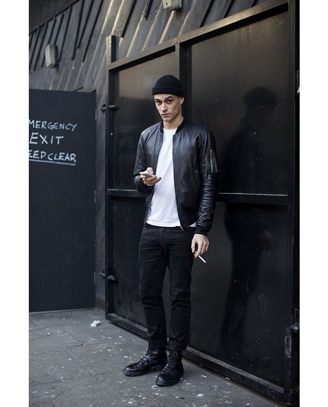 Les street looks des mannequins de la Fashion Week homme automne-hiver 2015-2016 62