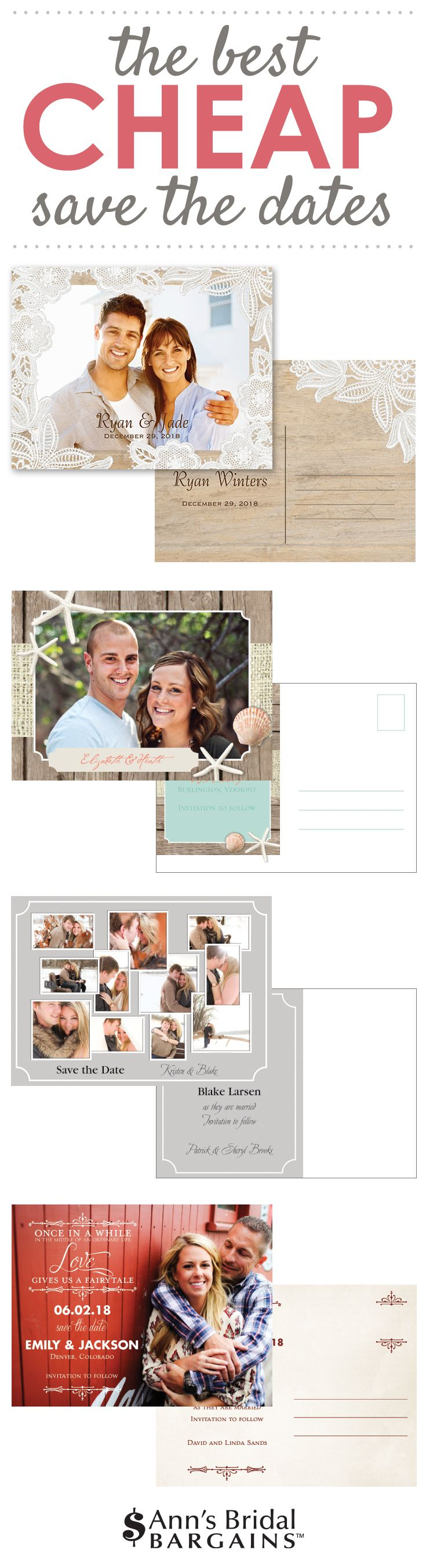 Cheap Save the Dates that don't skimp on quality. Tons of styles and themes to browse too!