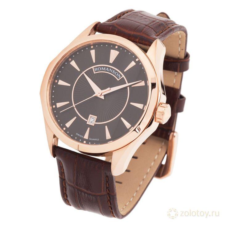 ROMANSON TL 0337 MR(BK) ТОВ № 77867 Цена на 20.01.2014 - 6525 р. http://www.zolotoy.ru/catalog/watch/2078119502812/#ad-image-0  #часы #ювелирныймагазин #золотой