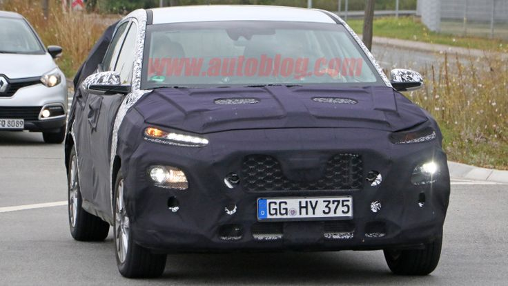 Well, this is interesting. Hyundai SUV Spy Shots from Autoblog.