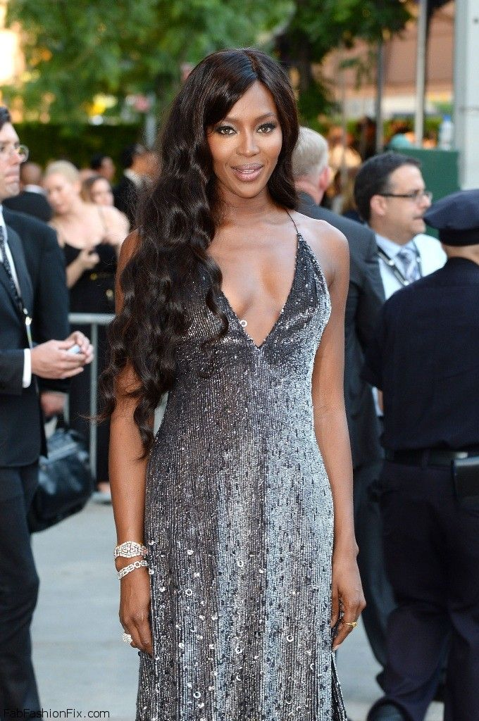 Naomi Campbell in Marc Jacobs dress at CFDA Fashion Awards 2014.