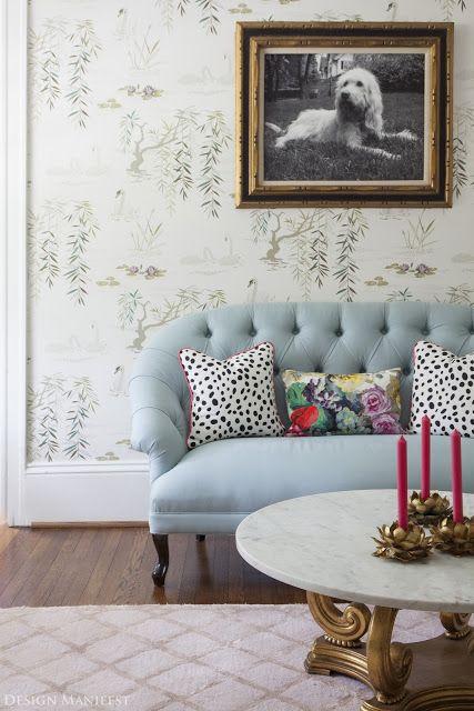 blue settee sofa #livingroom