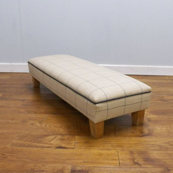 Wool upholstered footstool by LinneyHughes on Etsy, £195.00