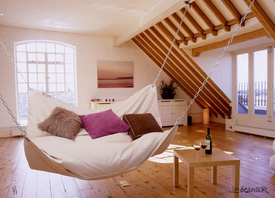 dream nap spot, complete with wineIdeas, Hanging Beds, Dreams, Indoor Hammocks, Swings, Living Room, Hammocks Beds, Beans Bags, House