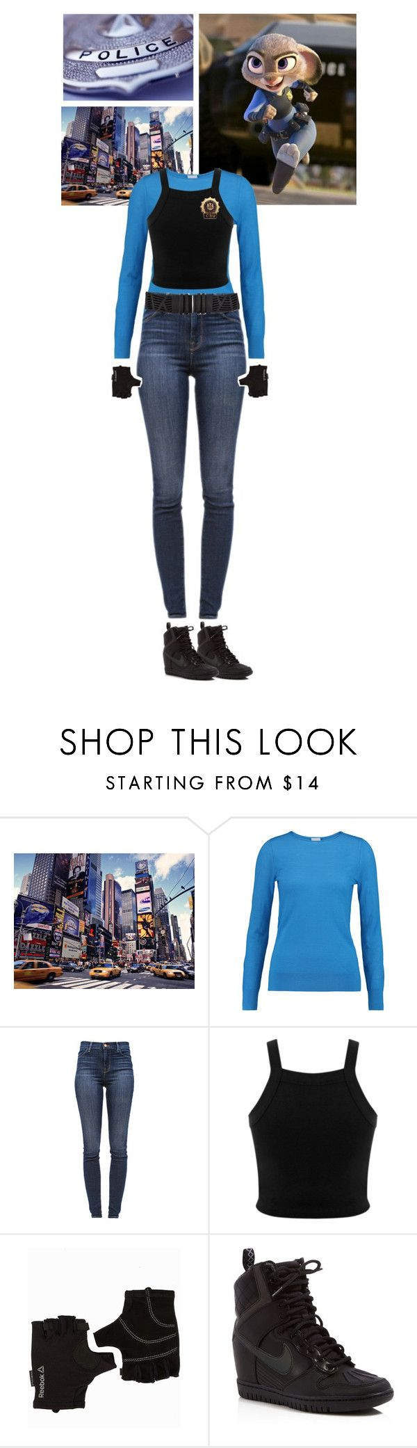 """""""zootopia: judy hopps"""" by novemberwitch ❤ liked on Polyvore featuring Iris & Ink, J Brand, Miss Selfridge, Reebok, NIKE, POLICE, women's clothing, women, female and woman"""