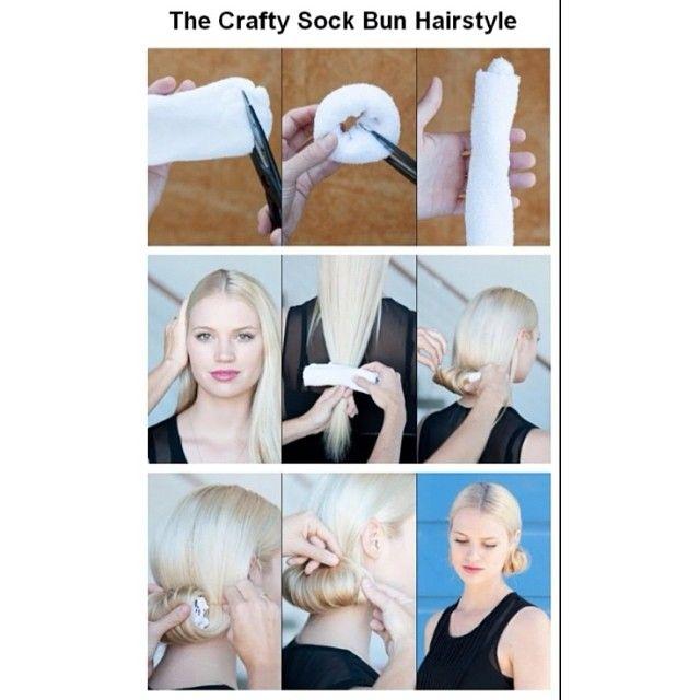 sock bun tutorial