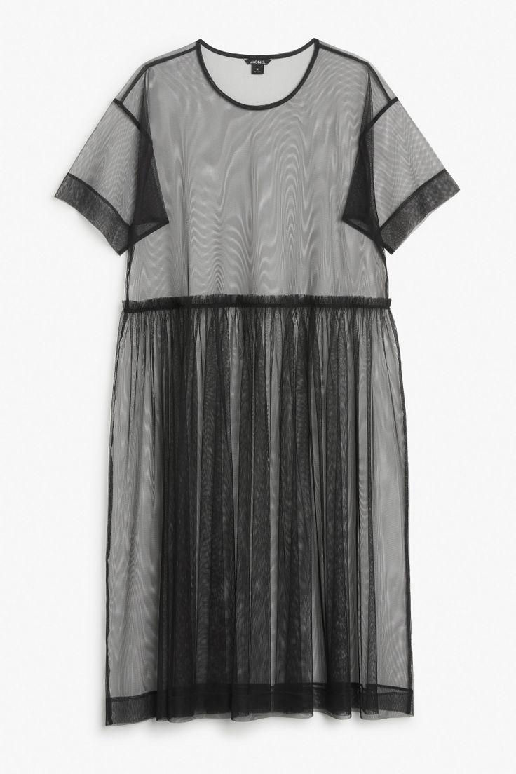 Mesh dress, make in soft colors and add appliques