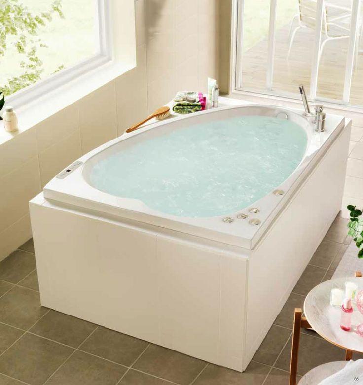 Moderne og romantisk boblebad for 2 personer: http://handlebad.no/badekar-massasjekar/massasjekar/norden-160-l-duo
