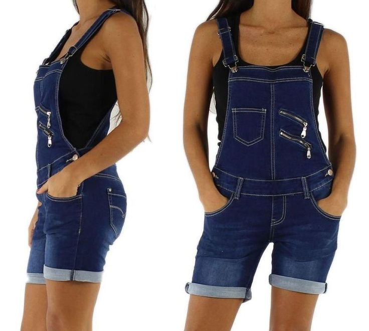 NEU Damen Latzshorts Latzhose Shorts Jeans XS S M L 34 36 38 40 42 Overall http://www.fashion-darling.de
