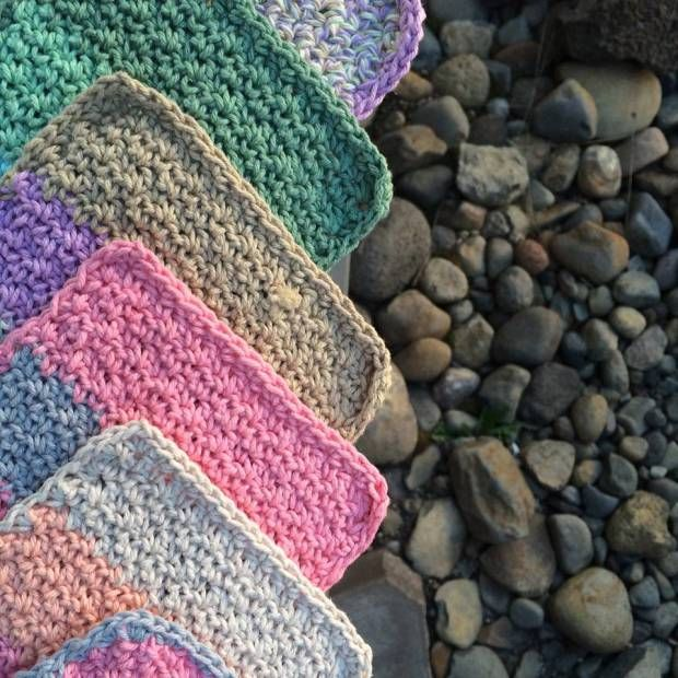 Woven Washcloth | Free Crochet Pattern | Salena Baca Crochet