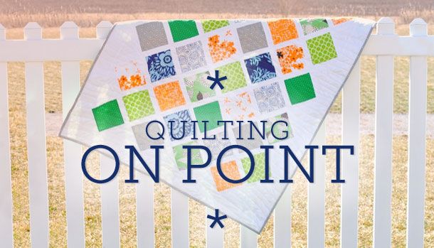 Check out these easy tips and calculations you can use to get the perfect triangles for on point quilting