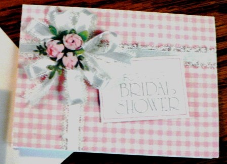 vintage cards  For YOUR BRIDAL SHOWER pink by DearNellieStationery, $4.00