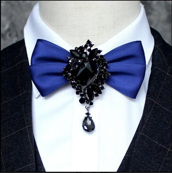 High Quality Diamond Man Ties for men Hotel Unified design Bow tie Stage for singers Butterfly tie