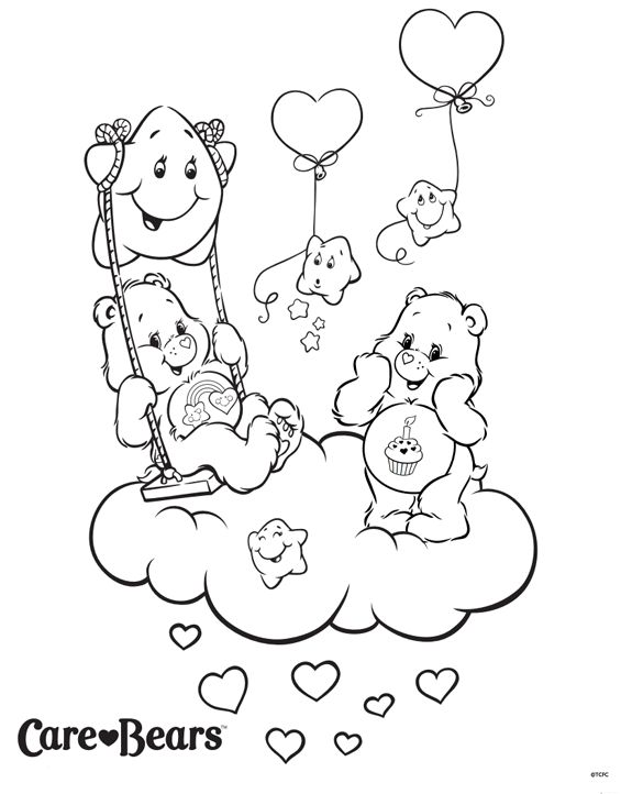 care bears cousins coloring pages - photo#17