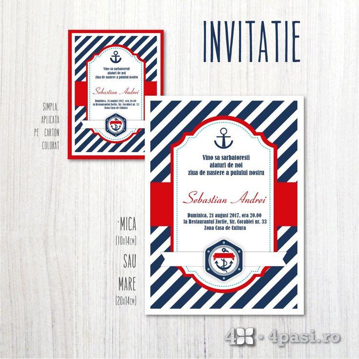 Invitație petrecere, temă marină - 4pasi.ro