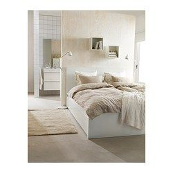 MALM High bed frame/4 storage boxes, white - white - Queen - IKEA