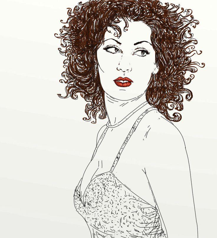 ritratto volto di donna by silviagaudenzi on DeviantArt