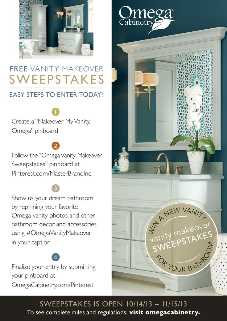 find this pin and more on omega vanity makeover sweepstakes - Bathroom Makeover Contest