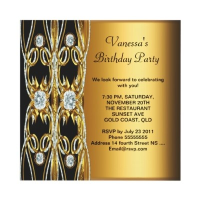 Best Sweet Invitations Images On Pinterest Blue Gold - Birthday invitation gold coast