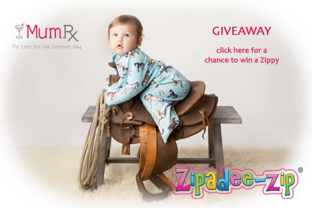 Drop by www.facebook.com/MumRx for a chance to win a Zippy from @SleepingBaby.com:  Home of the Zipadee-Zip