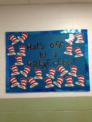Dr. Seuss Welcome back to school bulletin board idea