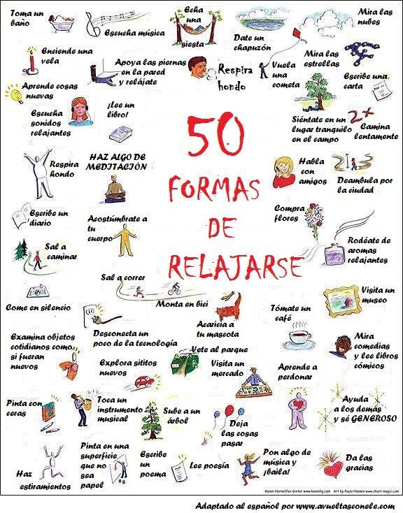 50 maneras de relajarse