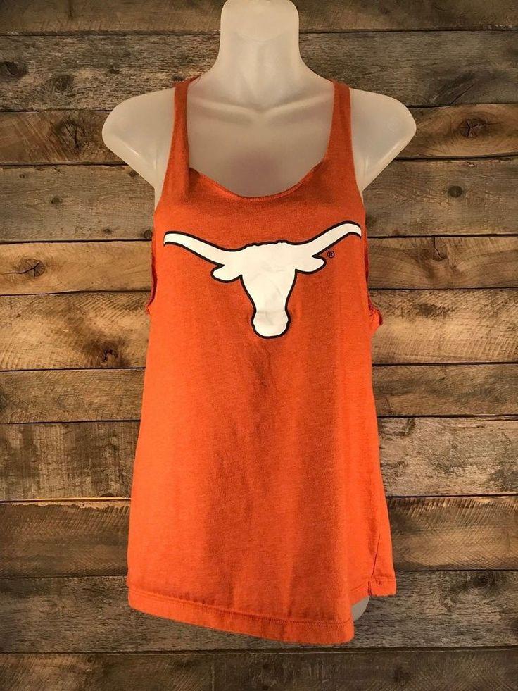 Texas Longhorns Orange Womens Size M Colosseum Loose Fit Tank Top #Nike #TexasLonghorns