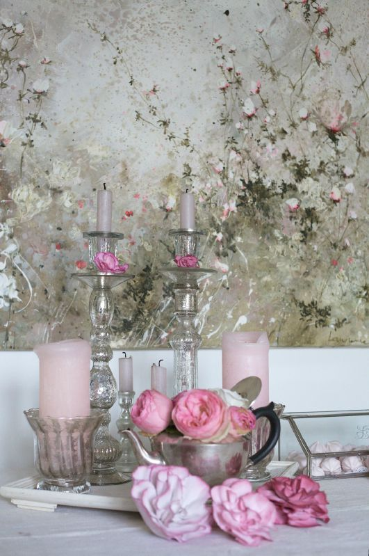 just beautiful: French Living, Pink Pink Pink, Chic French, Mercury Glasses, French Artists, Latest Book, Shabby Chic, French Country Home, Paintings Appearances