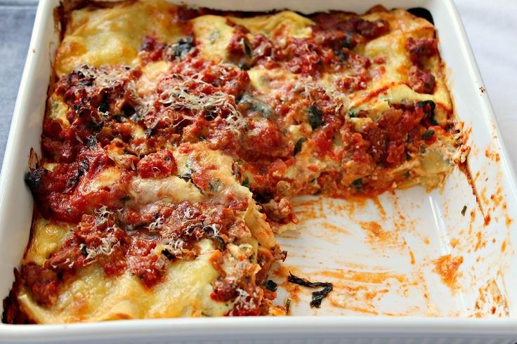 Milk and Honey: Turkey Sausage Lasagna | Milk and Honey - Pasta | Pin ...
