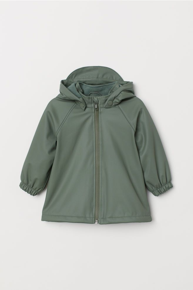 306afcd45 H&M Fleece-lined Rain Jacket - Green | Baby Clothes!! | Rain jacket ...