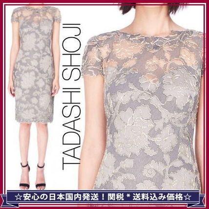 【国内関税込】Tadashi*レース刺繍タイトドレス*菊池桃子さん