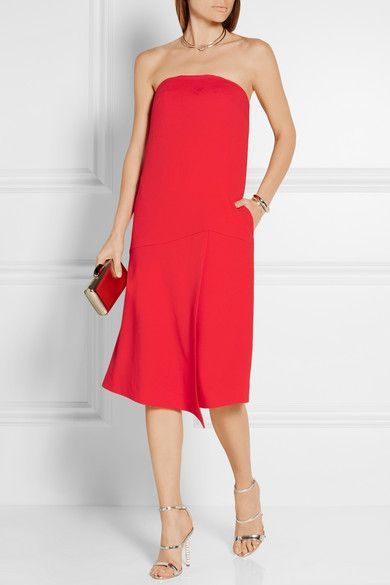 Red stretch-crepe Concealed hook and zip fastening at back 95% polyester, 5% elastane; lining: 100% polyester Dry clean Designer color: Scarlet Imported As seen in THE EDIT magazine #stylingmrsoliver