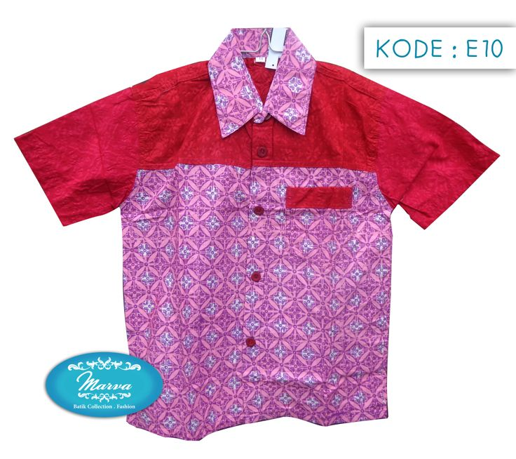 Batik Short-sleeved Shirt for kids  Kode E10-11  Lebar : 40cm Panjang : 51cm Harga : Rp 110.000 www.marvastore.com